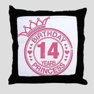 Birthday Princess 14 years Throw Pillow