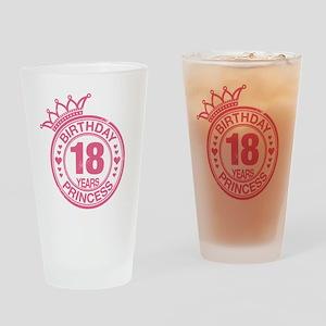 Birthday Princess 18 years Drinking Glass