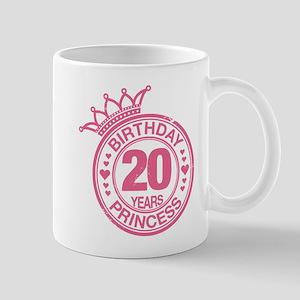 Birthday Princess 20 years Mug
