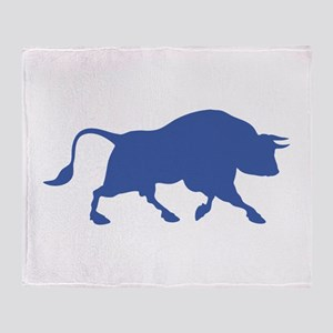 Blue Bull Throw Blanket