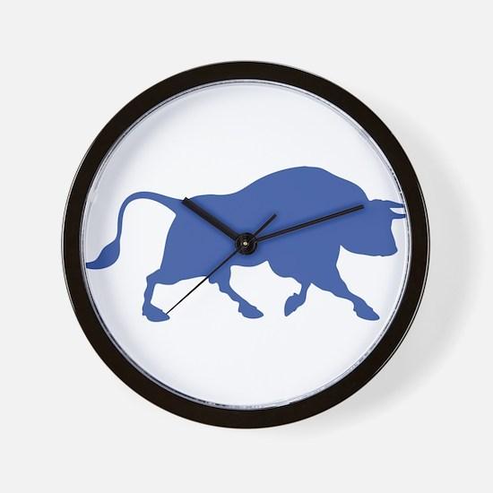 Blue Bull Wall Clock