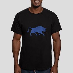 Blue Bull Men's Fitted T-Shirt (dark)