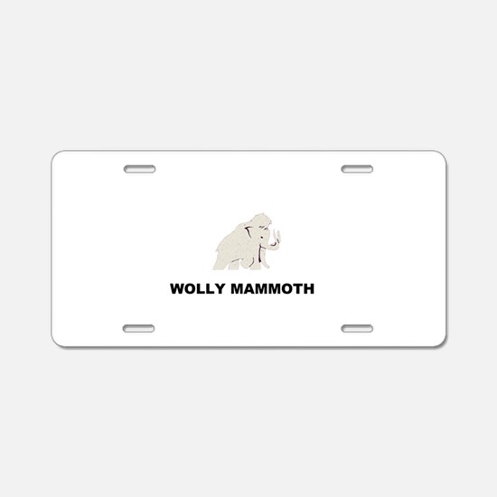 Wolly mammoth Aluminum License Plate