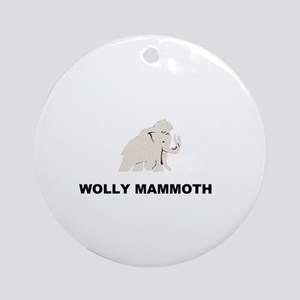 Wolly mammoth Ornament (Round)