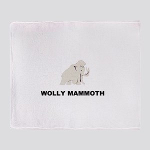 Wolly mammoth Throw Blanket