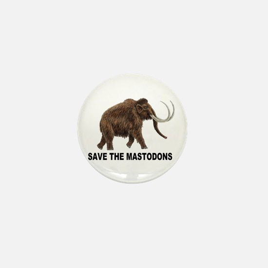 Save the mastodons Mini Button