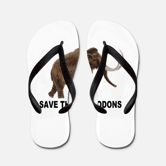 Save the mastodons Flip Flops