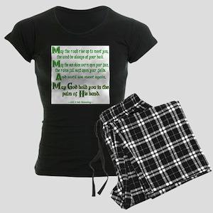 Irish May the Road Women's Dark Pajamas