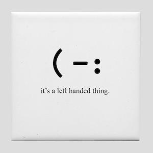 left handed Tile Coaster
