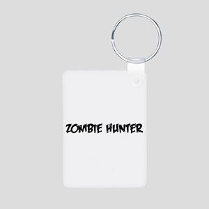 Zombie Hunter - Black Aluminum Photo Keychain