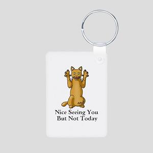 Not Today Aluminum Photo Keychain