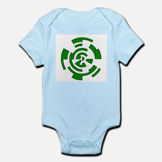 Freehand Concentric Circle Vectors Infant Bodysuit