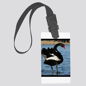 Moment with a Black Swan Large Luggage Tag