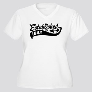 Established 1943 Women's Plus Size V-Neck T-Shirt