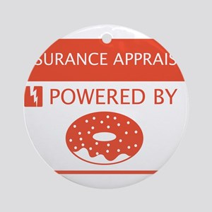 Insurance Appraiser Powered by Doughnuts Ornament