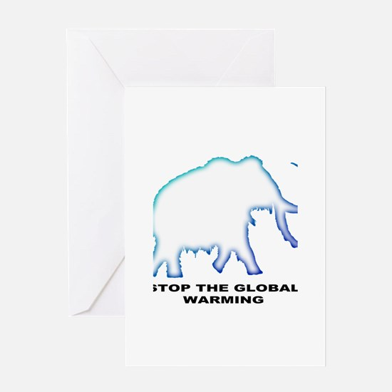 Stop the global warming Greeting Card