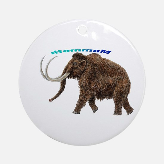 Mammoth Ornament (Round)
