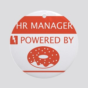 HR Manager Powered by Doughnuts Ornament (Round)