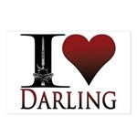I Heart Darling Postcards (Package of 8)