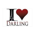 I Heart Darling 35x21 Wall Decal