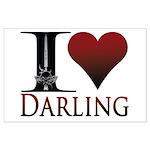 I Heart Darling Large Poster