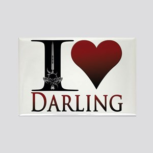I Heart Darling Rectangle Magnet