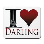 I Heart Darling Mousepad