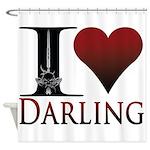 I Heart Darling Shower Curtain