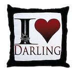 I Heart Darling Throw Pillow