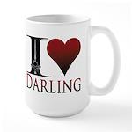 I Heart Darling Large Mug