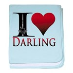 I Heart Darling baby blanket