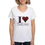 I Heart Darling Women's V-Neck T-Shirt