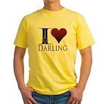 I Heart Darling Yellow T-Shirt