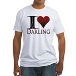 I Heart Darling Fitted T-Shirt