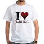 I Heart Darling White T-Shirt