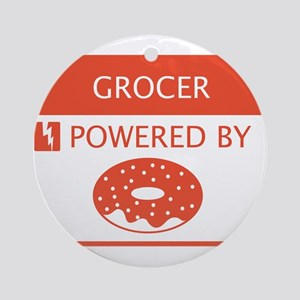 Grocer Powered by Doughnuts Ornament (Round)