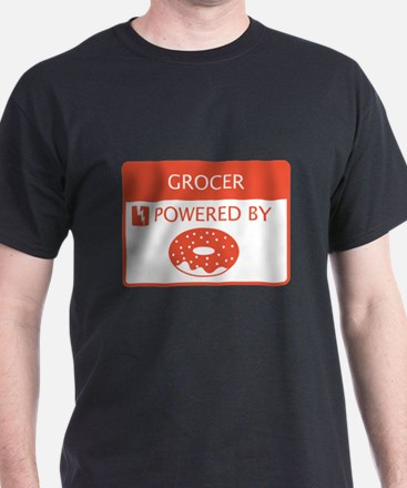Grocer Powered by Doughnuts T-Shirt