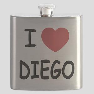 I heart DIEGO Flask