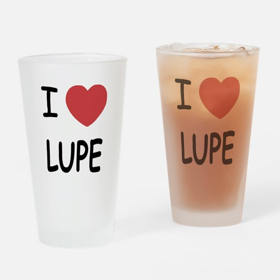 I heart LUPE Drinking Glass