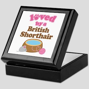 Loved By British Shorthair Cat Keepsake Box