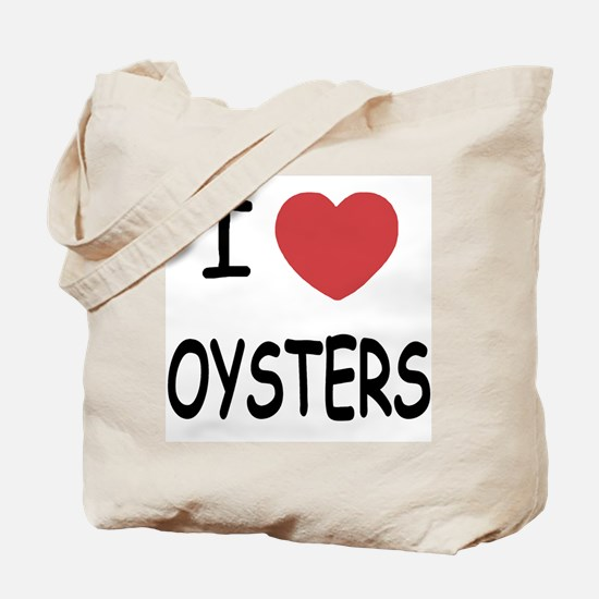 I heart oysters Tote Bag