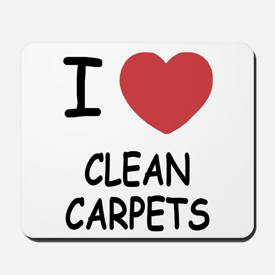 I heart clean carpets Mousepad