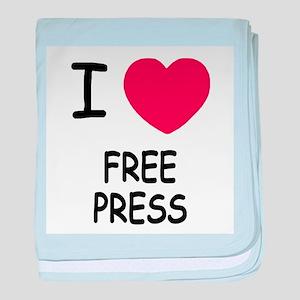 I heart free press baby blanket