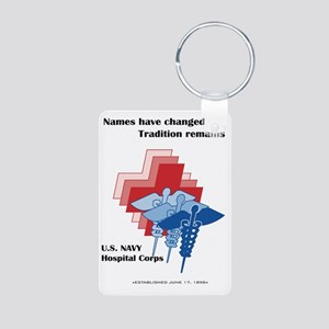 Navy Corpsman Aluminum Photo Keychain