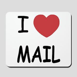 I heart mail Mousepad