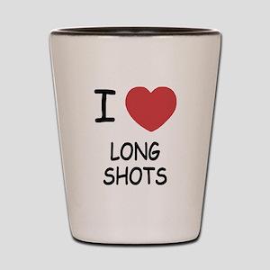 I heart long shots Shot Glass