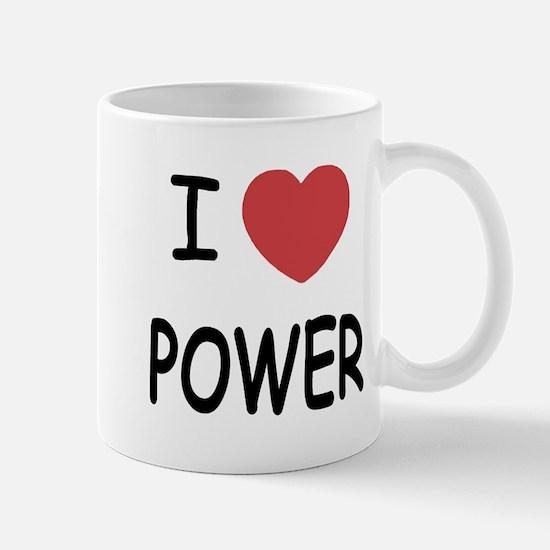 I heart power Mug