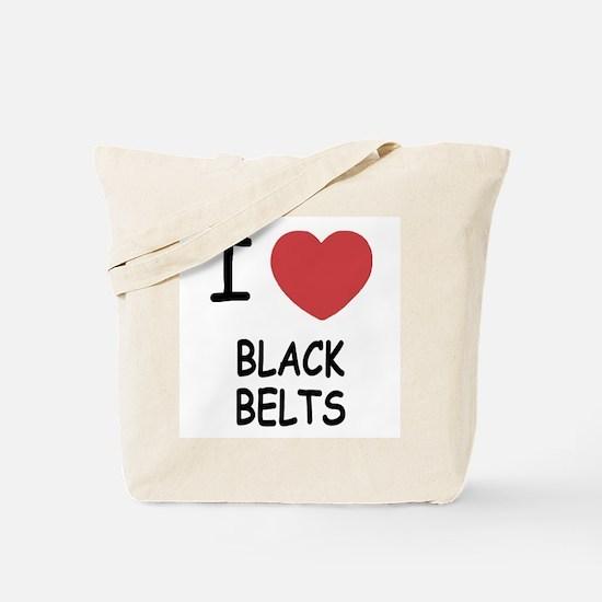 I heart black belts Tote Bag