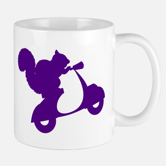 Purple Squirrel on Scooter Mug