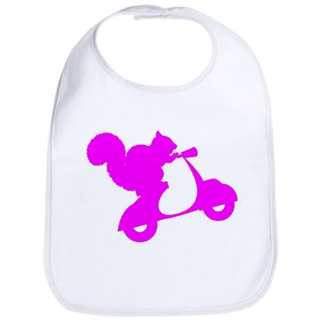 Pink Squirrel on Scooter Bib
